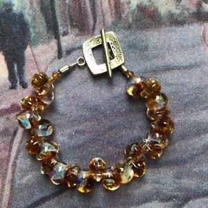 MURANO GLASS BEADS BRACELET WITH TOGGLE CLASP